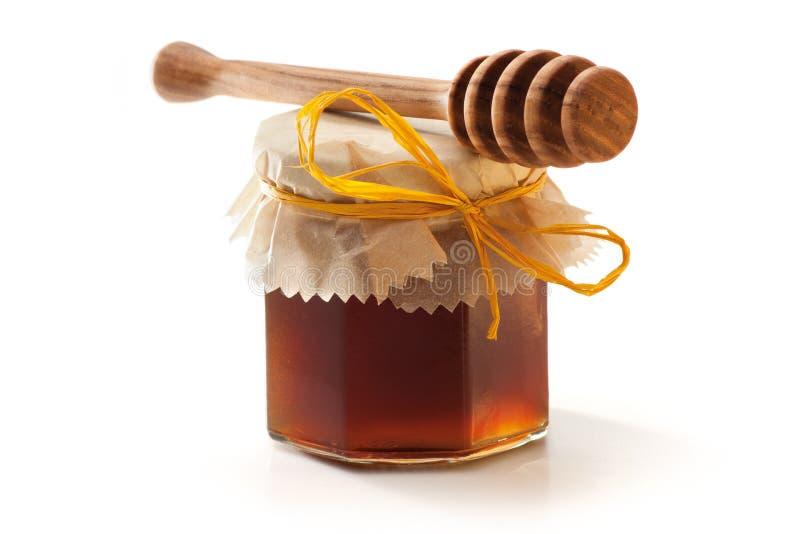 蜂蜜瓶子和北斗七星 库存照片
