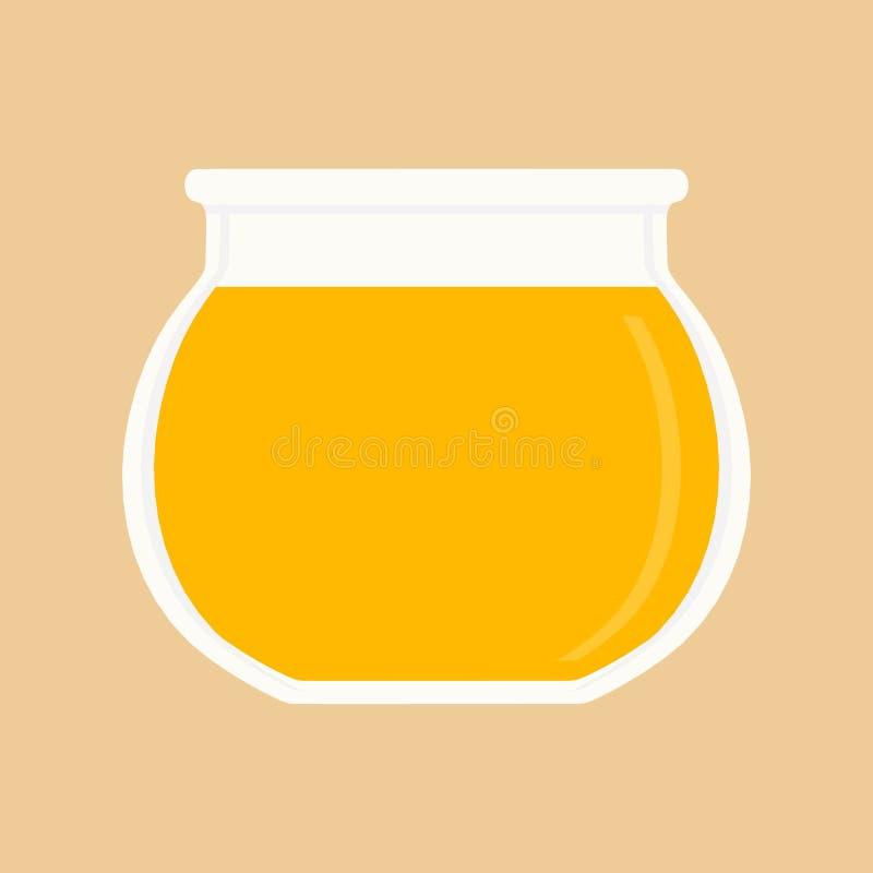 蜂蜜瓶子黄色成份产品蜂花蜜 农厂罐食物有机传染媒介 皇族释放例证