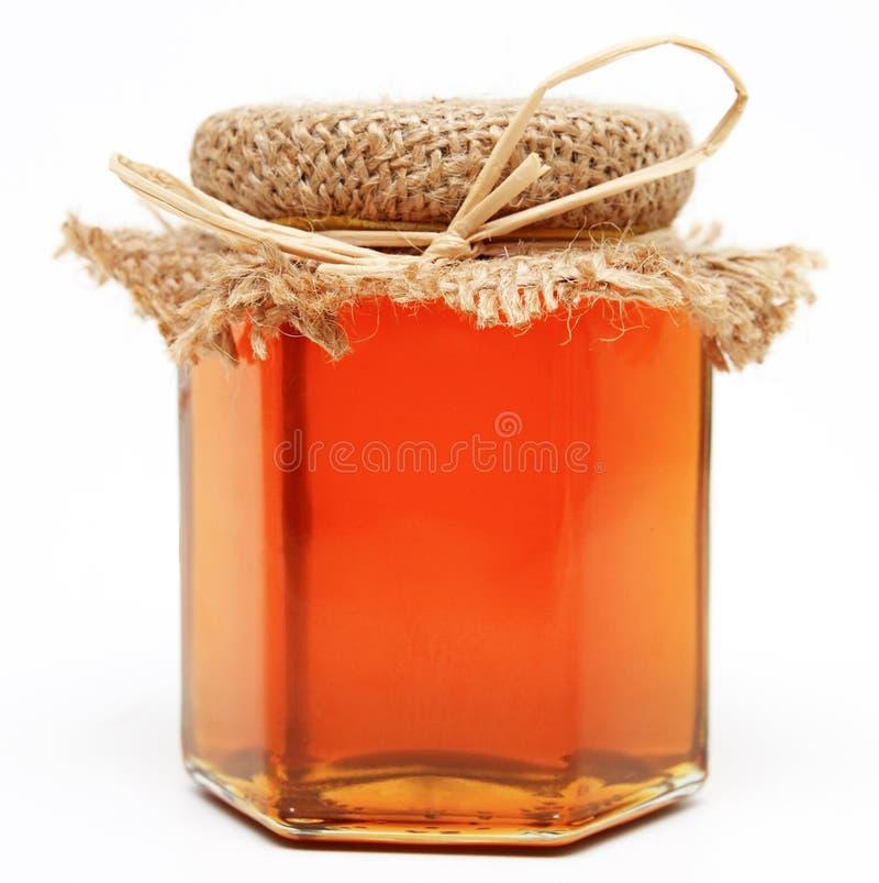 蜂蜜瓶子 免版税图库摄影