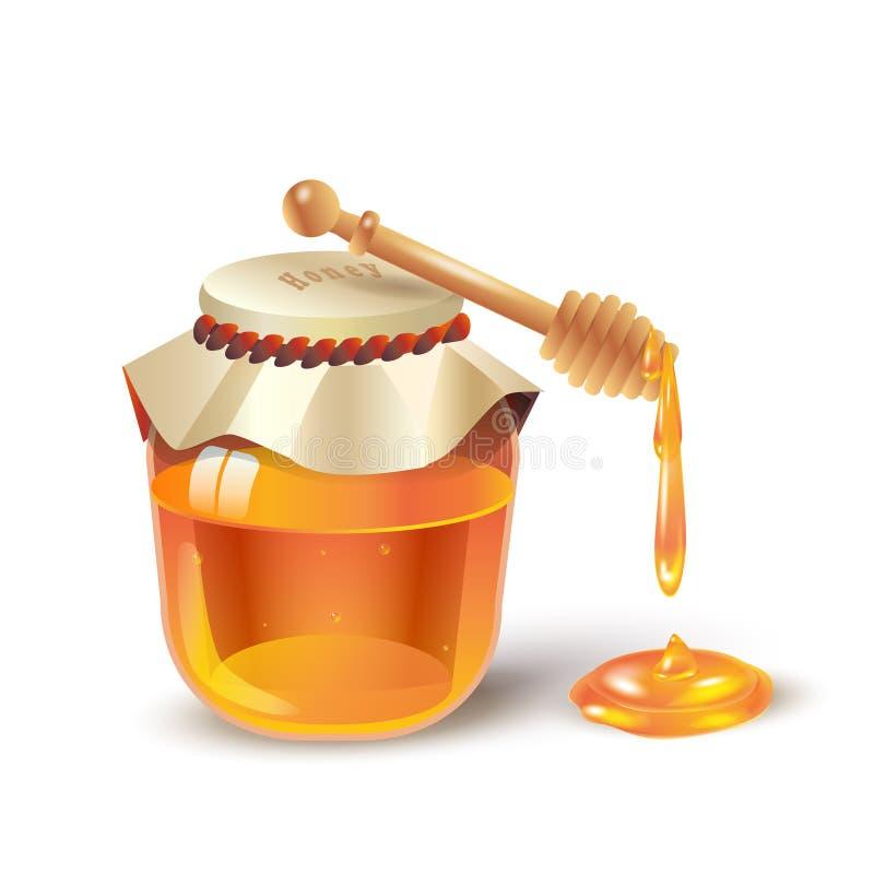 蜂蜜瓶子 向量例证