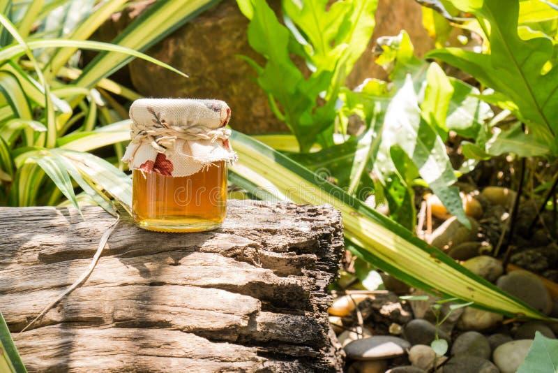 蜂蜜瓶 库存照片