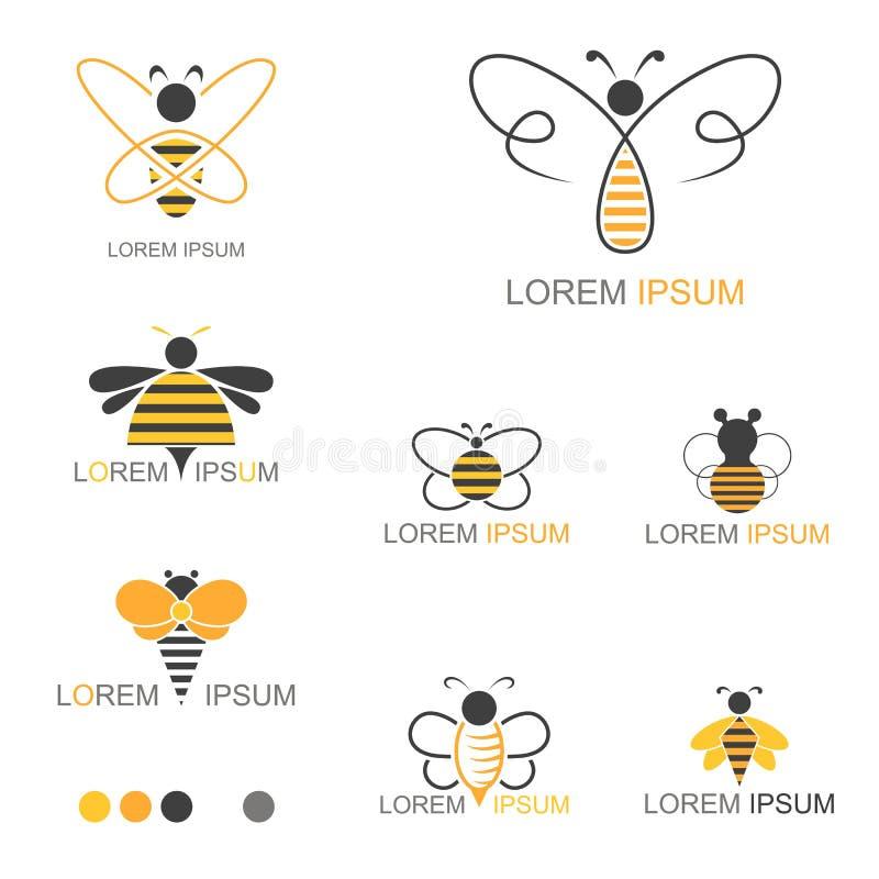 蜂蜜蜂昆虫商标-传染媒介 库存例证