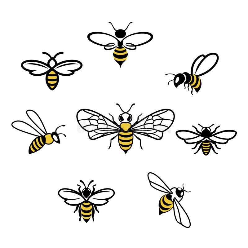 蜂蜜蜂象 库存例证