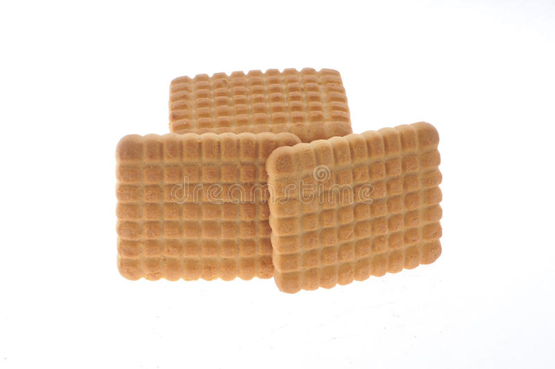 蜂蜜,查出的牛奶曲奇饼 库存图片