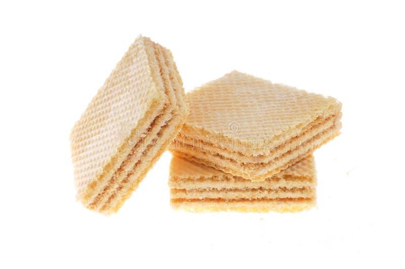蜂蜜,查出的牛奶曲奇饼 免版税库存图片