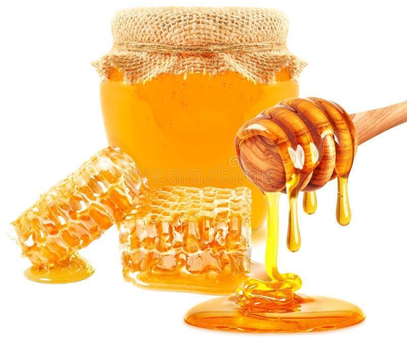 蜂蜜水滴 免版税库存照片