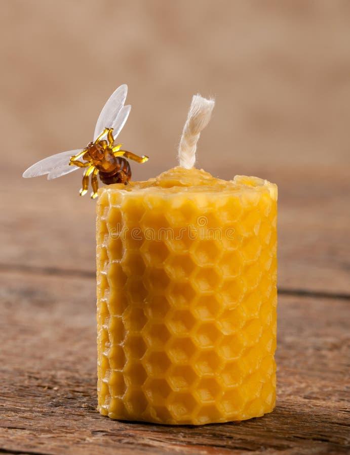 蜂蜡蜡烛 图库摄影