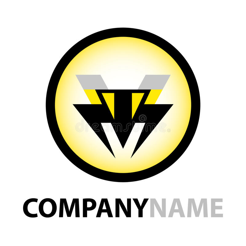 蜂设计图标徽标 库存例证