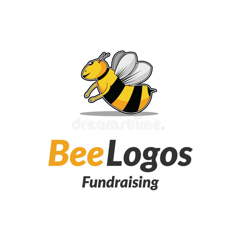 蜂象商标传染媒介 免版税库存照片