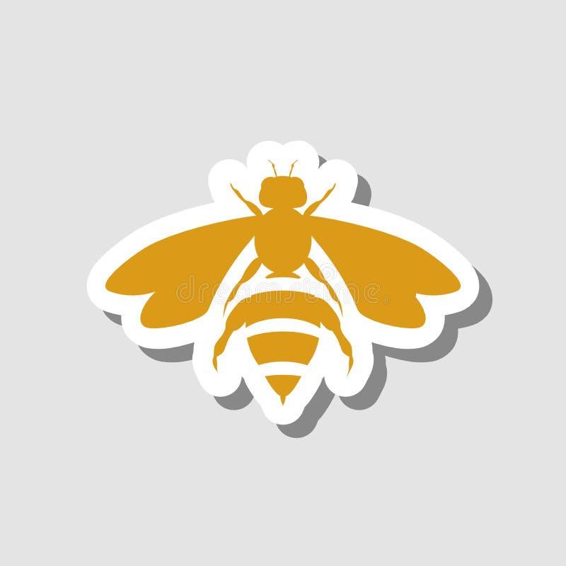 蜂,标志,象,最佳的3D例证 皇族释放例证
