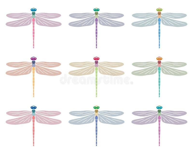蜻蜓标志 皇族释放例证