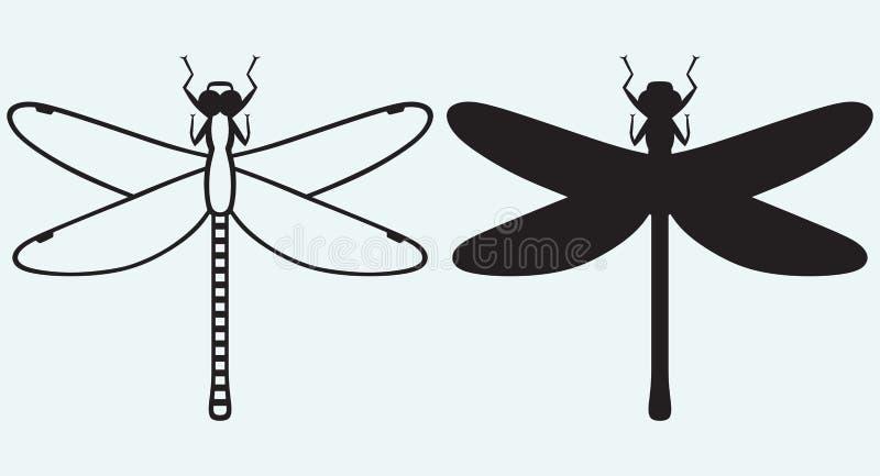 蜻蜓Anax Imperator 向量例证