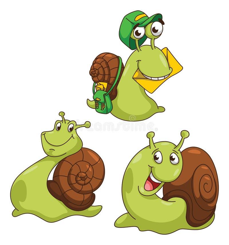 蜗牛动画片例证 向量例证