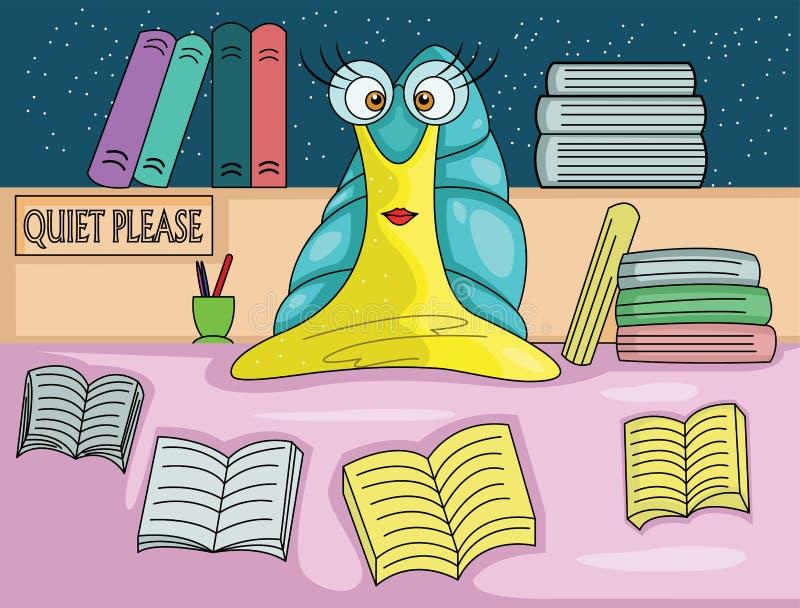 蜗牛图书管理员 库存例证