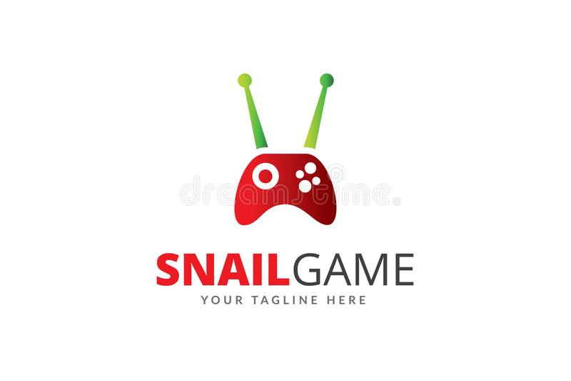 蜗牛比赛商标设计模板传染媒介 向量例证
