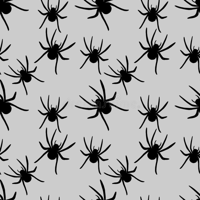 蜘蛛样式 为季节性,秋天,万圣夜设计完善 库存例证