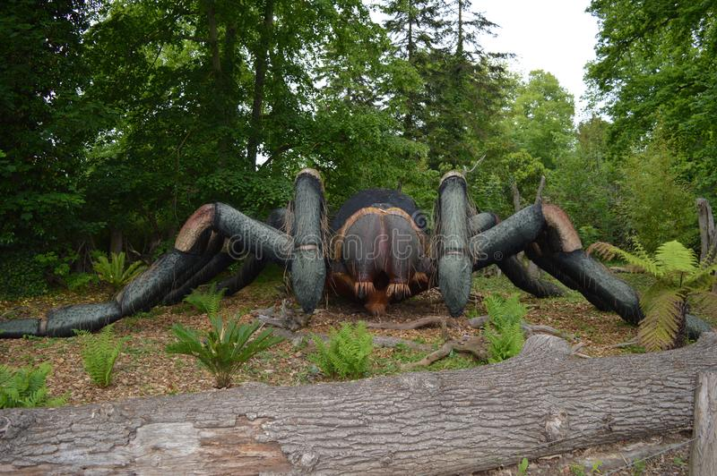 蜘蛛模型由木头制成 图库摄影