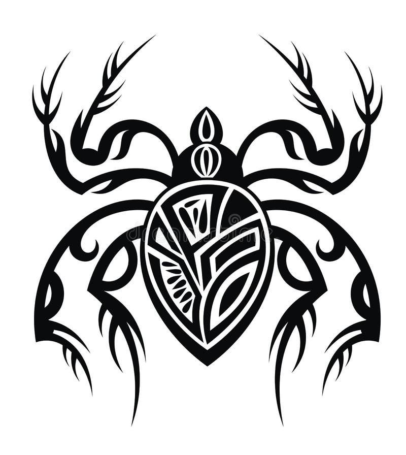 download 蜘蛛纹身花刺设计 向量例证.图片