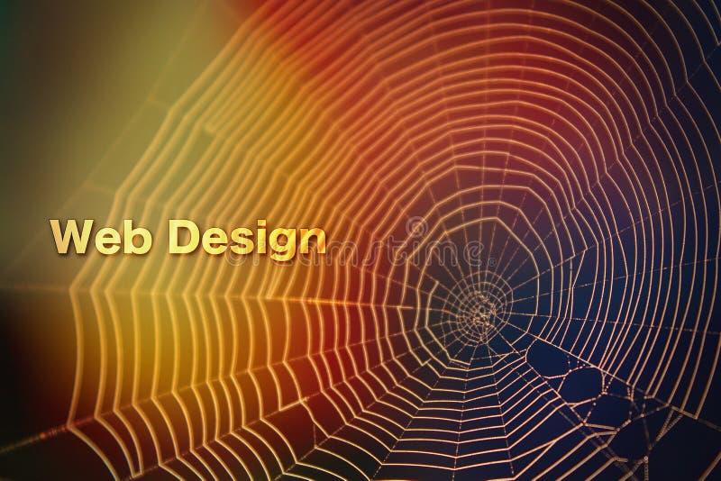 蜘蛛网设计五颜六色的光被弄脏的背景纹理 库存图片
