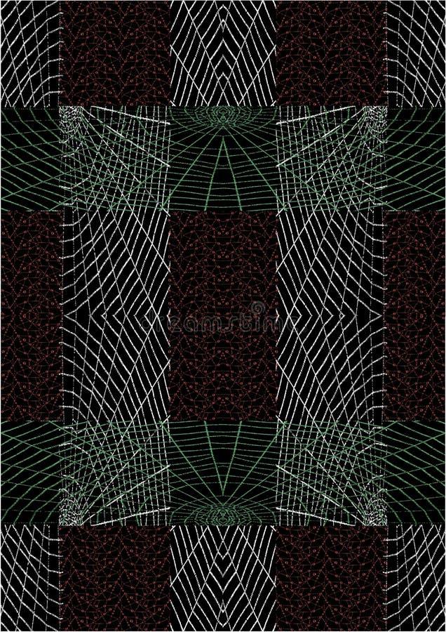 蜘蛛网重复样式 向量例证
