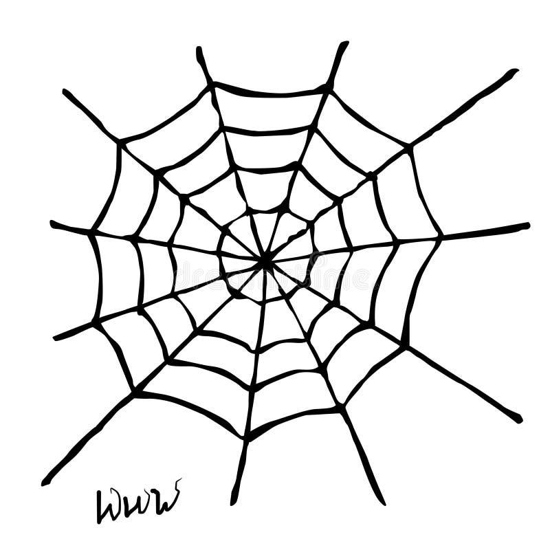 蜘蛛网 皇族释放例证