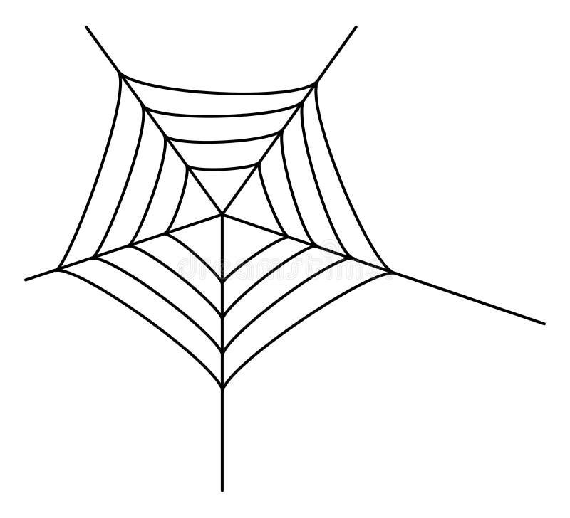 蜘蛛网 向量例证