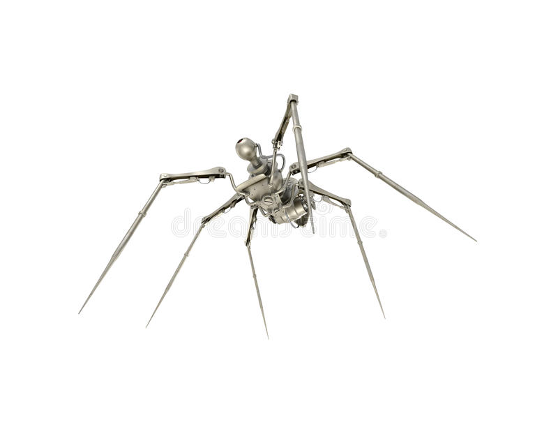 蜘蛛间谍 向量例证