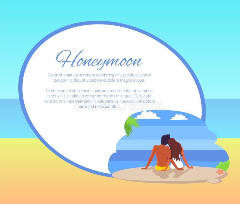 蜜月与看Seaview的夫妇的网海报 皇族释放例证