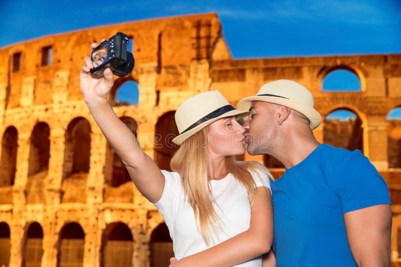 蜜月假期在罗马 图库摄影