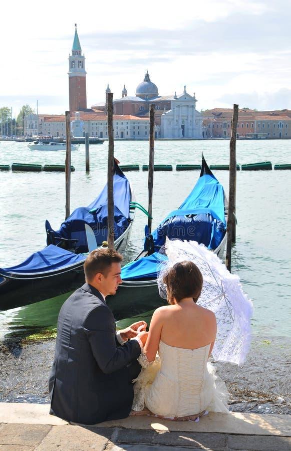 蜜月威尼斯 免版税图库摄影