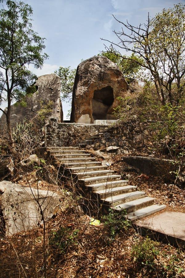 蜜月点,莫乌恩特阿布, Sirohi区,拉贾斯坦,印度 库存图片