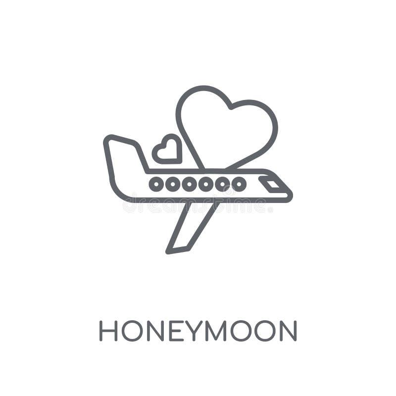 蜜月线性象 现代概述蜜月商标概念 库存例证