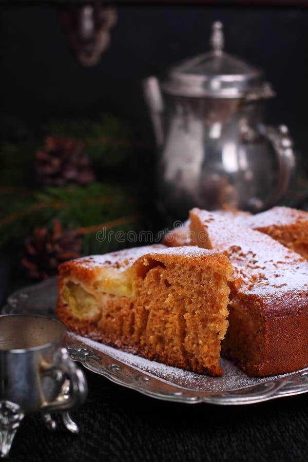 蜜糕用苹果 免版税库存图片