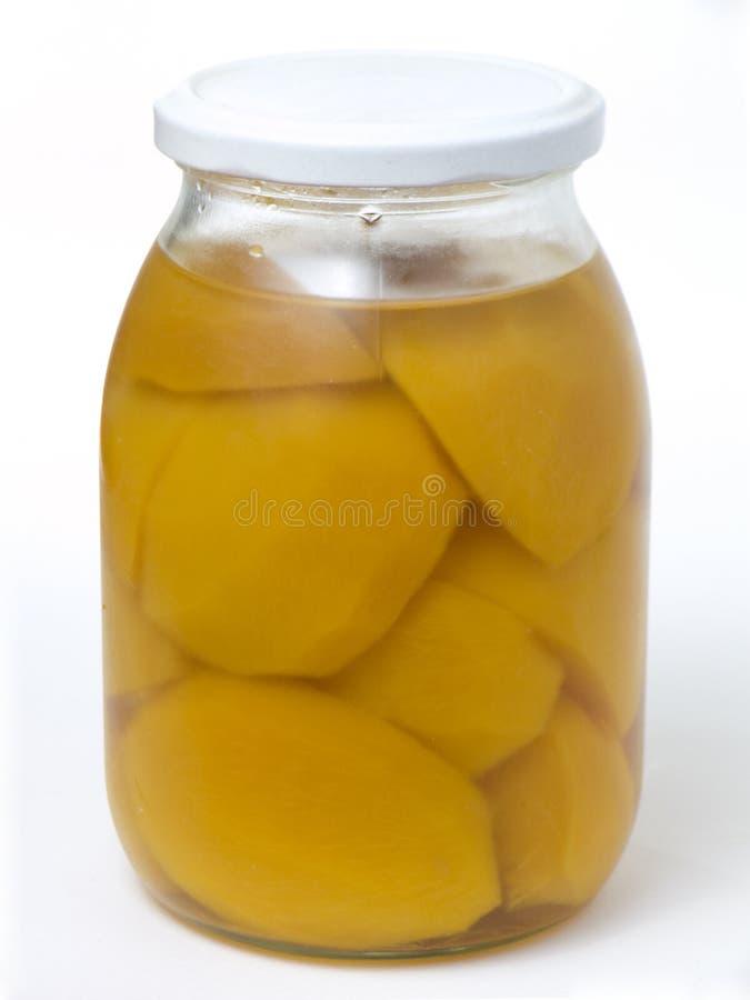 蜜饯家做桃子 免版税库存照片