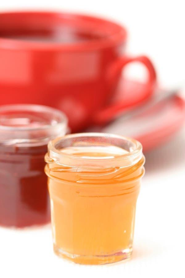 蜜饯杯子茶 免版税图库摄影