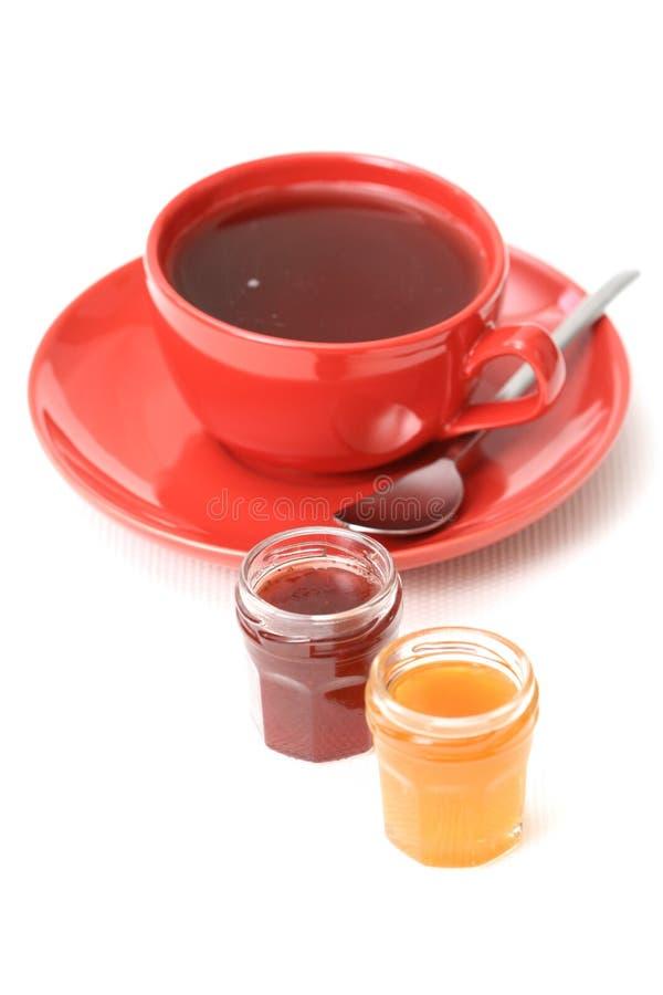 蜜饯杯子茶 免版税库存照片
