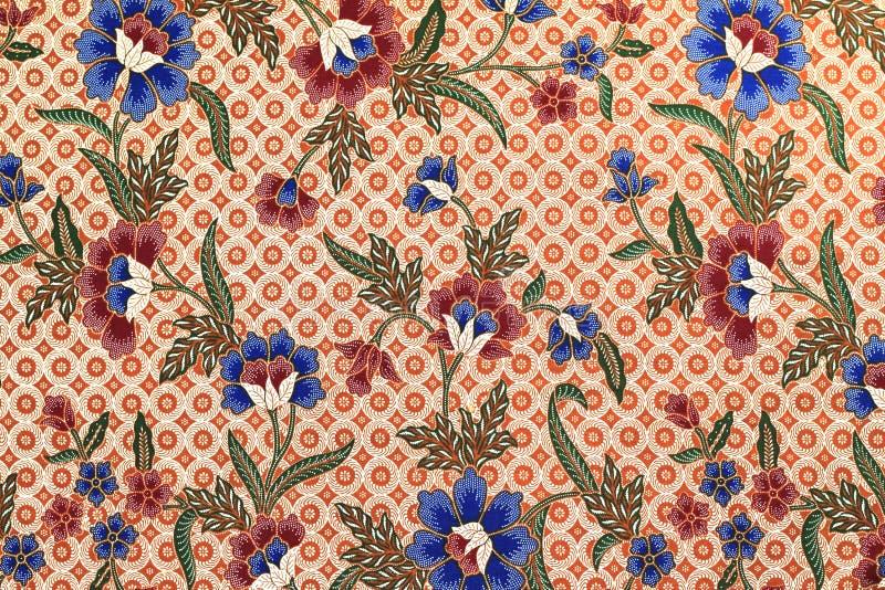 蜡染布做马来西亚纹理 库存照片