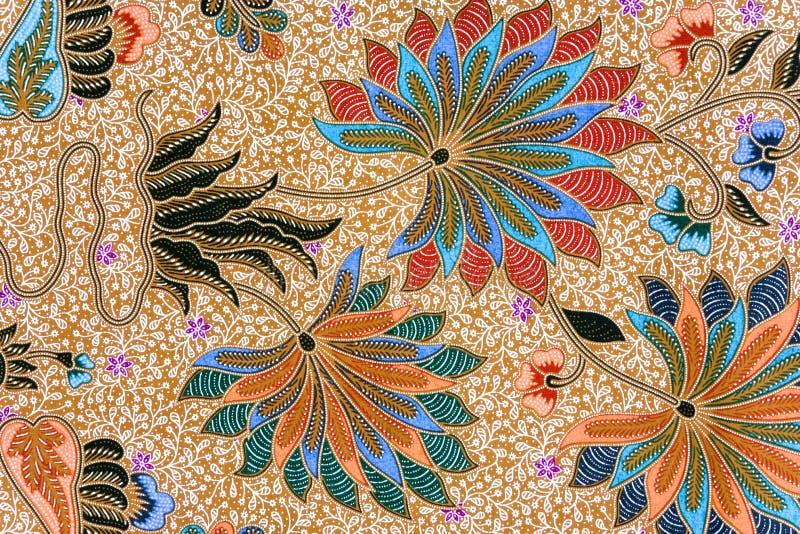 蜡染布印度尼西亚人布裙 免版税图库摄影