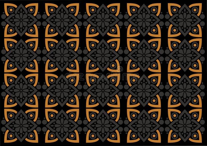 蜡染布印度尼西亚美好的装饰品样式 向量例证