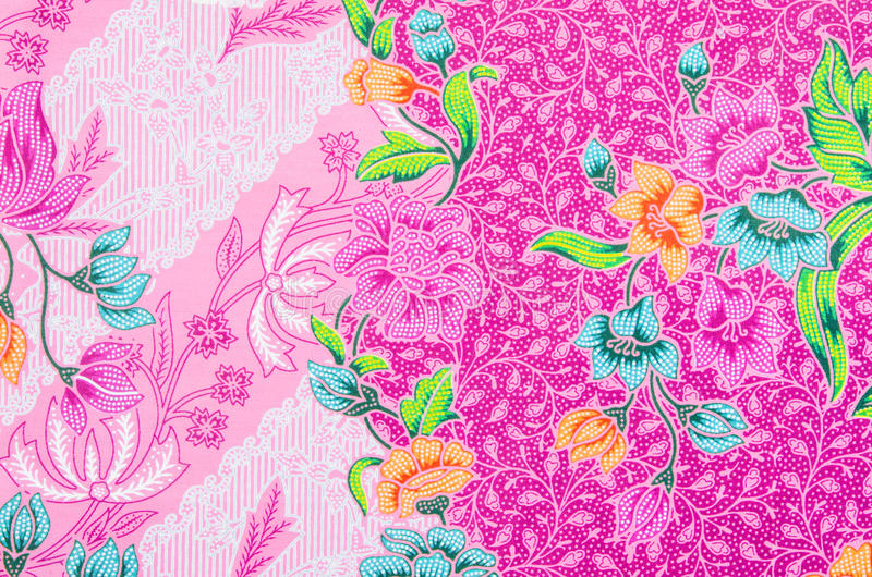 蜡染布布裙样式背景在泰国 库存照片