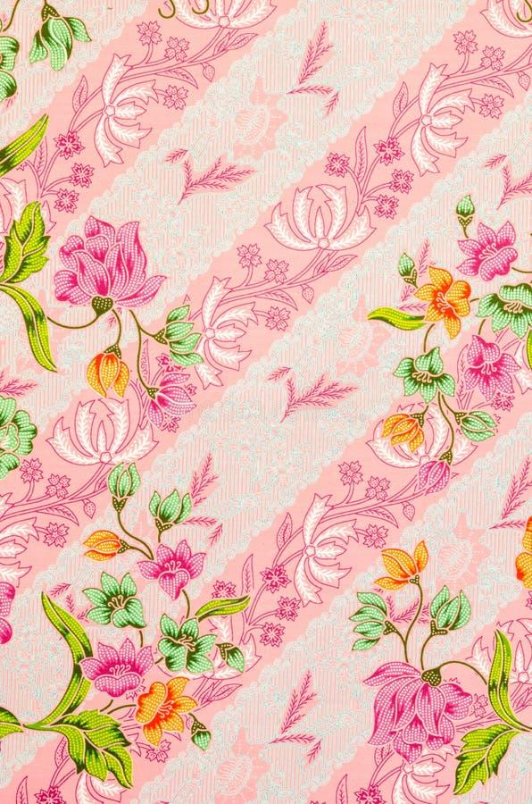 蜡染布布裙样式背景在泰国 免版税库存照片