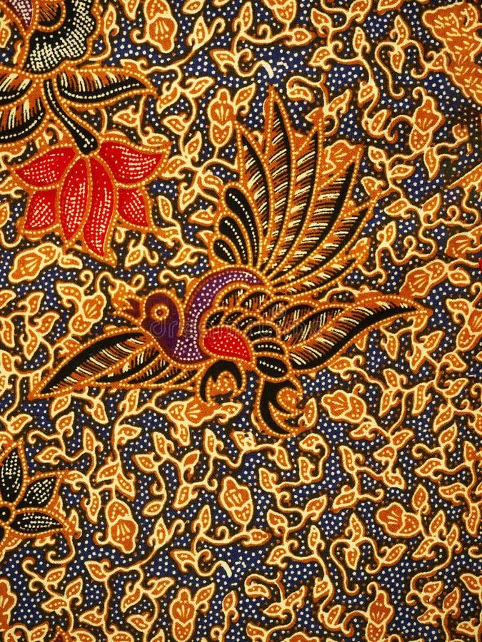 蜡染布样式,独奏,印度尼西亚 免版税库存照片