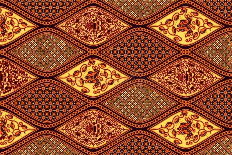 蜡染布独奏样式 免版税库存图片