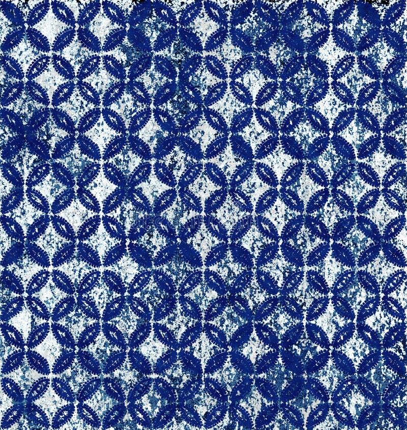 蜡染布纹理重复现代样式设计 库存例证