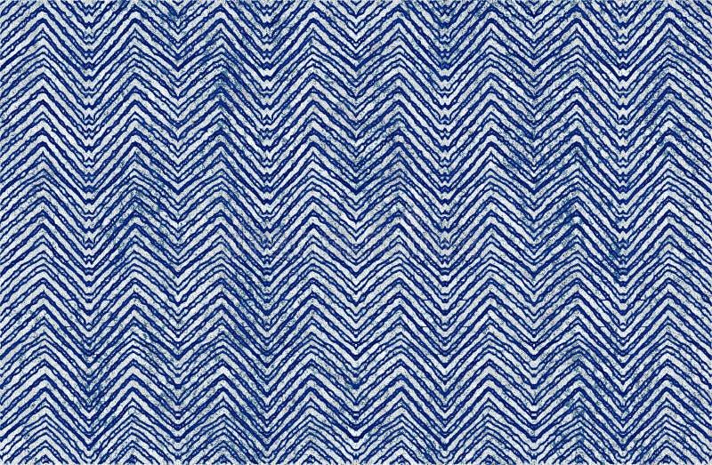 蜡染布纹理重复现代样式 库存例证