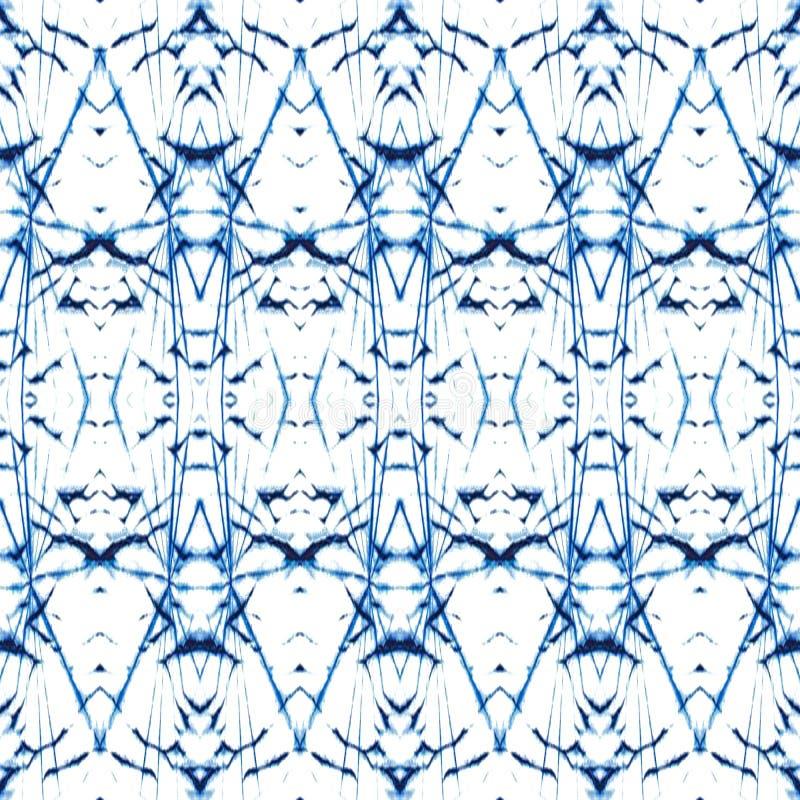 蜡染布纹理重复现代样式 皇族释放例证