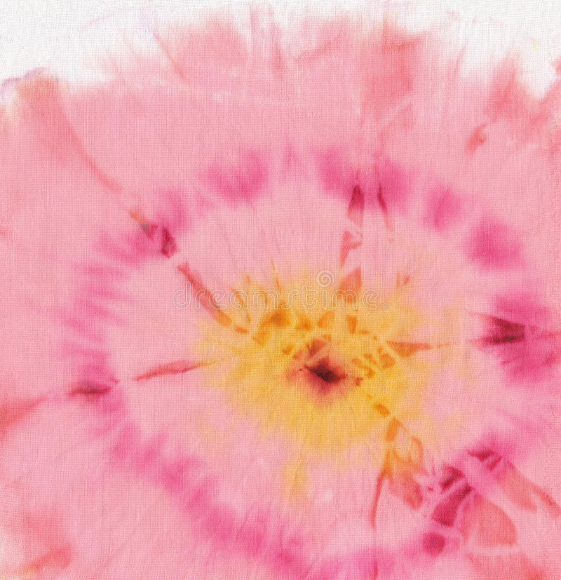 蜡染布花牡丹粉红色 库存例证