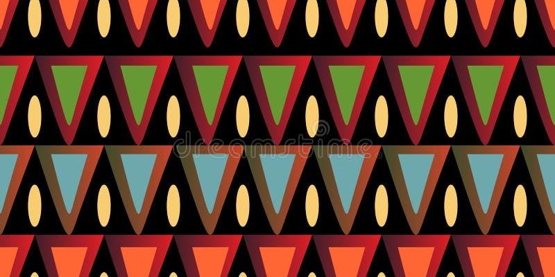 蜡染布部族无缝的样式设计准备好打印 向量例证