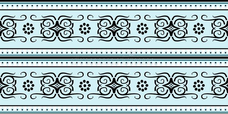 蜡染布部族无缝的样式设计准备好打印 皇族释放例证