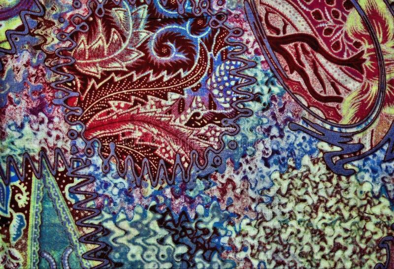 蜡染布颜色纹理 库存图片
